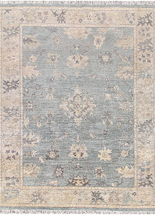 Powder Blue Oushak 7' 11 x 10' 1 - No. 66736