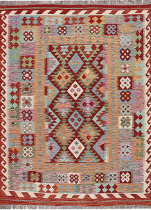 Multi Colored Kilim 5' 1 x 6' 6 - No. 66777