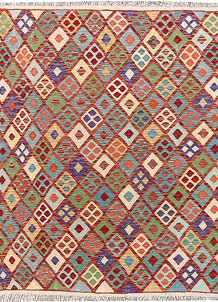 Multi Colored Kilim 5' 1 x 6' 5 - No. 66781