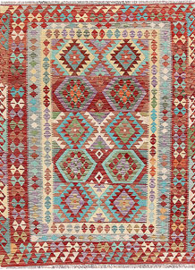 Multi Colored Kilim 4' 11 x 6' 5 - No. 66817