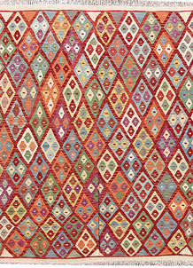 Multi Colored Kilim 5' 5 x 6' 4 - No. 66824