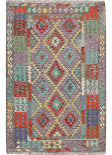 Multi Colored Kilim 5' 4 x 8' 1 - No. 66830