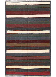 Multi Colored Kilim 4' 10 x 8' 1 - No. 66845