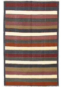 Multi Colored Kilim 4' 11 x 8' 1 - No. 66851