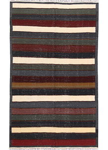 Multi Colored Kilim 4' 11 x 8' 1 - No. 66858