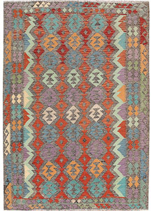 Multi Colored Kilim 5' 9 x 7' 11 - No. 66900