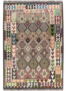 Multi Colored Kilim 6' 8 x 9' 8 - No. 66929