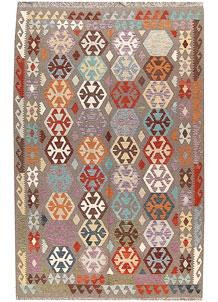 Multi Colored Kilim 6' 5 x 9' 9 - No. 66935