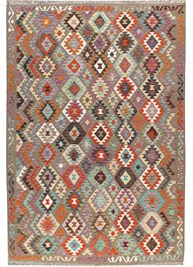 Multi Colored Kilim 6' 7 x 9' 10 - No. 66938