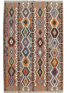 Multi Colored Kilim 6' 6 x 9' 9 - No. 66943