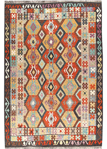 Multi Colored Kilim 6' 7 x 9' 8 - No. 66944