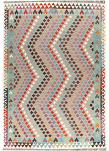 Multi Colored Kilim 6' 6 x 9' 9 - No. 66945