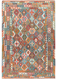 Multi Colored Kilim 6' 6 x 9' 7 - No. 66946