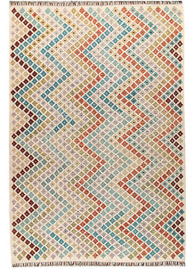 Multi Colored Kilim 6' 7 x 9' 7 - No. 66947