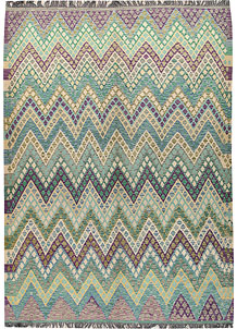 Multi Colored Kilim 8' 1 x 10' 11 - No. 66948