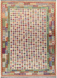 Multi Colored Kilim 8' 2 x 11' 5 - No. 66949