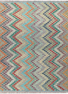 Multi Colored Kilim 8' 4 x 9' 9 - No. 66951