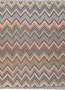 Multi Colored Kilim 8' 6 x 10' 5 - No. 66952