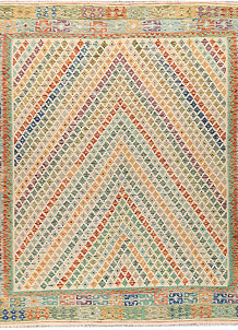 Multi Colored Kilim 8' 8 x 9' 9 - No. 66953