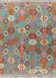 Multi Colored Kilim 8' 2 x 9' 5 - No. 66955