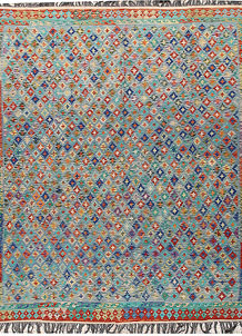Multi Colored Kilim 8' 5 x 9' 9 - No. 66956