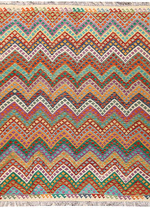 Multi Colored Kilim 8' 6 x 9' 9 - No. 66957