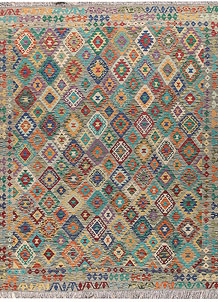 Multi Colored Kilim 8' 3 x 9' 9 - No. 66959