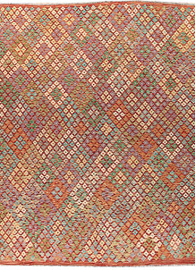 Multi Colored Kilim 8' 8 x 9' 6 - No. 66960