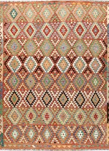 Multi Colored Kilim 8' 2 x 11' 2 - No. 66969