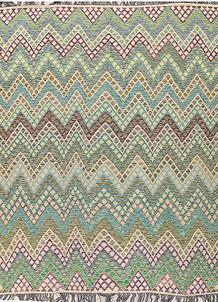 Multi Colored Kilim 8' 1 x 10' 8 - No. 66971