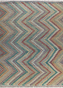 Multi Colored Kilim 9' x 11' 9 - No. 66975