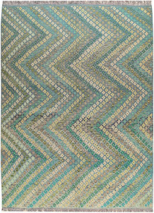 Multi Colored Kilim 8' 11 x 12' 1 - No. 66976