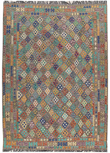 Multi Colored Kilim 8' 6 x 11' 8 - No. 66978