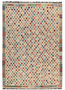 Multi Colored Kilim 8' x 11' 7 - No. 66979