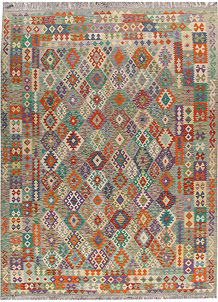 Multi Colored Kilim 8' 8 x 11' 7 - No. 66980