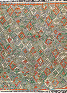 Multi Colored Kilim 8' 6 x 11' 4 - No. 66983