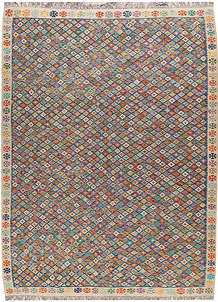 Multi Colored Kilim 9' 2 x 12' 1 - No. 66984
