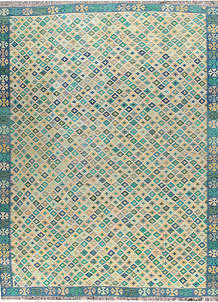 Multi Colored Kilim 9' 2 x 11' 11 - No. 66988