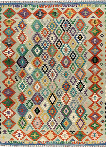 Multi Colored Kilim 8' 9 x 11' 1 - No. 66991