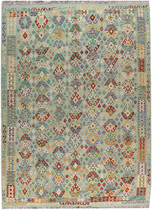 Multi Colored Kilim 8' 6 x 11' 8 - No. 66993