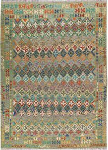 Multi Colored Kilim 8' 5 x 11' 8 - No. 66994