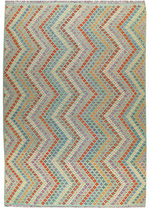 Multi Colored Kilim 8' 8 x 12' - No. 66995