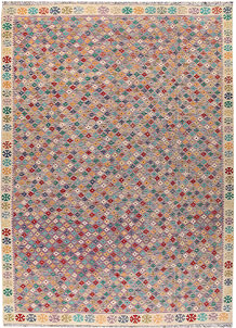 Multi Colored Kilim 8' 9 x 12' 3 - No. 66996