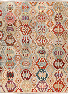 Multi Colored Kilim 8' 4 x 11' 3 - No. 66999