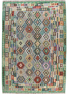 Multi Colored Kilim 8' 2 x 11' 7 - No. 67001