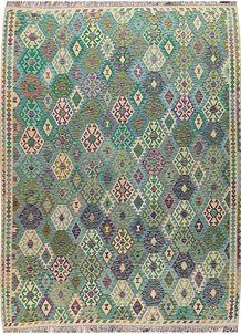 Multi Colored Kilim 9' 1 x 11' 11 - No. 67002
