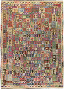 Multi Colored Kilim 8' 2 x 11' 6 - No. 67004
