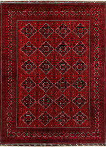 Dark Red Khal Mohammadi 8' 1 x 10' 11 - No. 67178