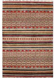 Multi Colored Kazak 6' 8 x 10' 1 - No. 67334