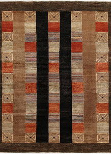 Multi Colored Gabbeh 8' 2 x 9' 6 - No. 67339